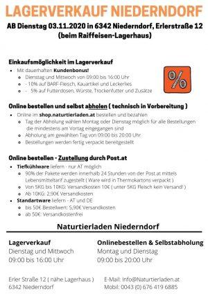 Lagerverkauf Info